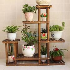 Wooden Plant Flower Herb Display Stand Shelf Storage Rack Outdoor 5 Pots Holder