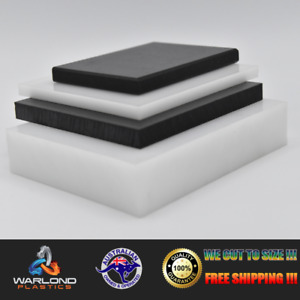 HDPE SHEETS - BLACK OR WHITE  / PANELS - SELECT SIZE - FREE TRACKED SHIPPING!