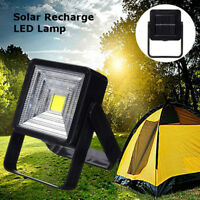 Portable Solar Powered LED Rechargeable Bulb Light Outdoor Camping Yard Lamp 1PC