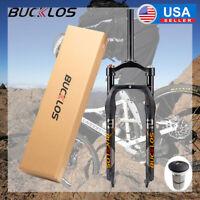 "BUCKLOS 26*4.0"" Fat Bike Suspension Front Forks 120mm Travel 1-1/8"" Threadless"