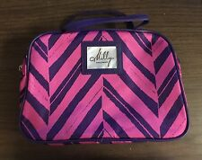 Milly For Clinique Purple Pink And Blue Strip Bag- Brand New!