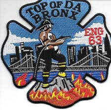 "New York City - Engine-63  ""Top of DA Bronx""  (5"" x 5"" size) fire patch"