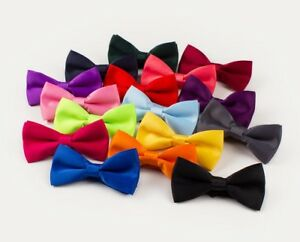 New Baby Toddler & Boys Girls Quality Pre Tied Satin Feel  Bow Tie Dickie Bow