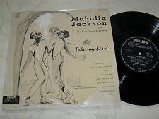 "10"" MAHALIA JACKSON AND THE FALLS-JONES ENSEMBLE Take My Hand *PHILIPS LABEL*"