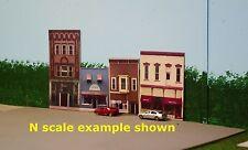 HO scale VAN WERT photo background building flats