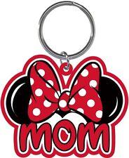Disney Mom Bow Minnie Mouse Ears Fan Lasercut Laser Keychain Keyring