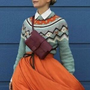 J Crew NWT $118 Zigzag Fair Isle Sweater | Sz XXS | Color:Warm Aqua Warm Ivory