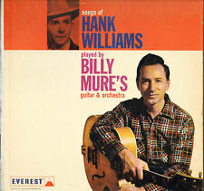 "RARE BILLY MURE ""SONGS OF HANK WILLIAMS"" 60'S LP EVEREST 5072"