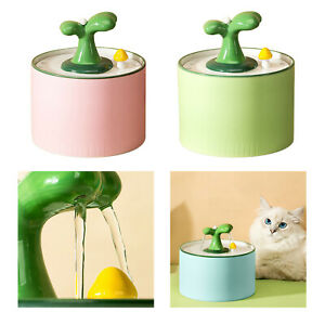 1.0L Automatic Electric Cat Water Fountain Auto Water Dispenser Water Bowl