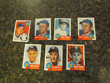 7 WASHINGTON SENATORS MLB NOSTALGIA CARDS