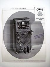 "1930's ""Short Wave Apparatus"" Pamphlet - Medical Quackery Device"