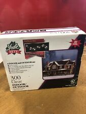Yule Rite 300 Clear Indoor/Outdoor Lights With Green Cord