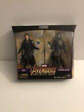 "Marvel Legends 6"" MCU Corvus Glaive + Loki Avengers Infinity War Black Order New"