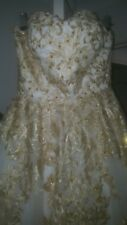 White And Gold Prom/formal dress size small to medium.