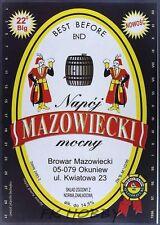 Poland Brewery Okuniew Pils Mazowiecki Beer Label Bieretikett Cerveza ma3.12