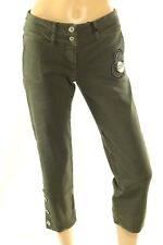 Ungaro Fever Women's Casual Pants Army Green Jeans Embellished Stretch Size 28