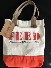 Canvas Tote & Shoulder Strap | Hunger FEED Project | Collector's Bag | NWT