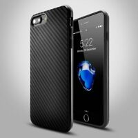 Case For Apple iPhone 5s 6s 7 8 Plus X XS Slim Carbon Fibre Soft Shock Gel