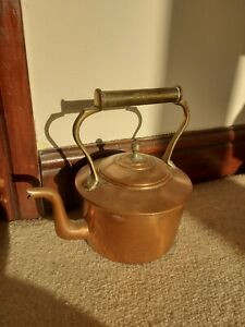 Vintage Copper Kettle With Lid