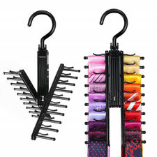 Tie Rack Hanger Closet Scarf Organizer Necktie Shelf Belt Cross Holders Non Slip