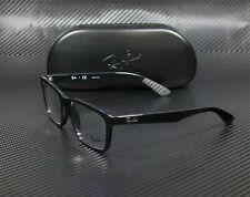 RAY BAN RX7025 2000 Shiny Black Demo Lens 55 mm Unisex Eyeglasses