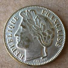Jeton maison close maison de tolérance CARTAUX fausse pièce 1 franc 1906 ∅ 22 mm