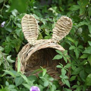 Straw Hamster Hut Creative Rabbit Bed Hand-Woven Small Animals House BreathabRI