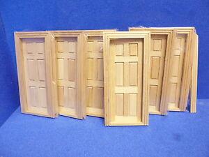 1/12 scale Dolls House Internal Doors   Pack off 6  TC6007