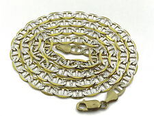 10K Yellow Solid Gold Mariner Diamond Cut Chain 24 Inches 5mm 20.43 Grams