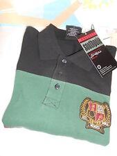 South Pole Mens Colorblock Varsity 2 Logo Short Sleeve Polo Shirt Black L NWT