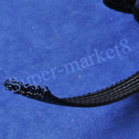40mm Diameter Expandable Braided Nylon PET Black Sleeving 5M Meter