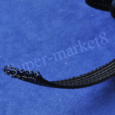 40mm Diameter Expandable Braided Nylon PET Black Sleeving 5M Meter