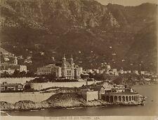 Monaco Monte Carlo Tir aux pigeons Vintage albumine ca 1875