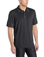 Cubavera Men's Essential Textured Performance Polo Shirt NWT - Black - MSRP $55