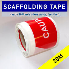 More details for scaffolding tube warning sleeving tape - handy 20m rolls reduce theft & waste