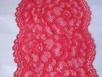 Magenta pink elastisch 8cm Breit elegante Spitze  Borte Nur 1€/1m     0084