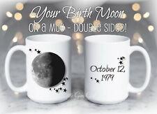Your Custom Birth Moon Coffee Mug Personalized Anniversary Moon Lunar Cup