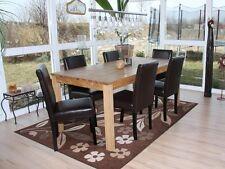Lot de 6 chaises de séjour Littau, cuir reconstitué marron