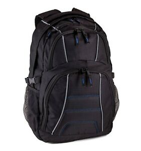 JETPAL Protective Water Resistant Backpack for Laptops Up to 15.6 Inch Black
