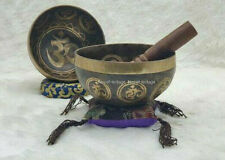 "Special ""Om""Etching 8 inches Singing bowl from Nepal-Best Meditation Healing"