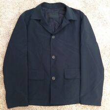 PRADA Jacket Men's L Large Black Blazer Polyester Sport Coat Career Casual LS