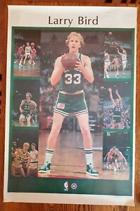 "VINTAGE LARRY BIRD POSTER #5040 NOREN TROTMAN PHOTOGRAPHER 1980 STARLINE 23""X35"""