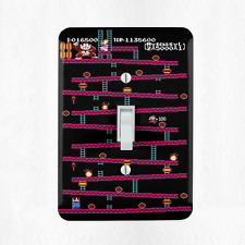 Donkey Kong NES Light Switch Cover Plate Duplex Outlet Video Game Mario New