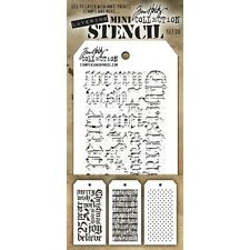 Tim Holtz Mini Layered Stencil Set 3/Pkg - Set #20