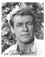 Russell Johnson signed 8x10 b&w photo Gilligan's Island TV star Professor JSA
