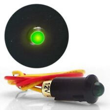 5mm 12V GREEN LED Plastic Body Indicator Light 12v accessories head light switch