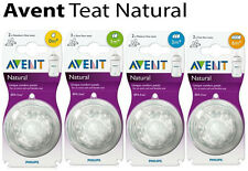 PHILIPS AVENT NATURAL Flow Bottle Natural Teats Dummy Sizes Available Natural