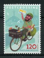 Hungary 2018 MNH Postcrossing 1v Set Postman Bicycles Postal Services Stamps