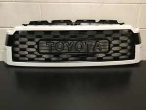 Genuine Toyota 2018 & Newer Sequoia TRD PRO 040 White Grill PT363-0C200-WT