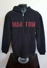 Burton Full Zip Logo Hooded Sweatshirt Dryride Thermex Snowboarding RARE 203